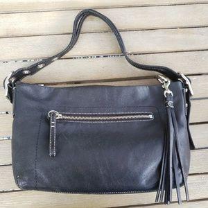 Coach East West 1417 Legacy hobo black leather bag